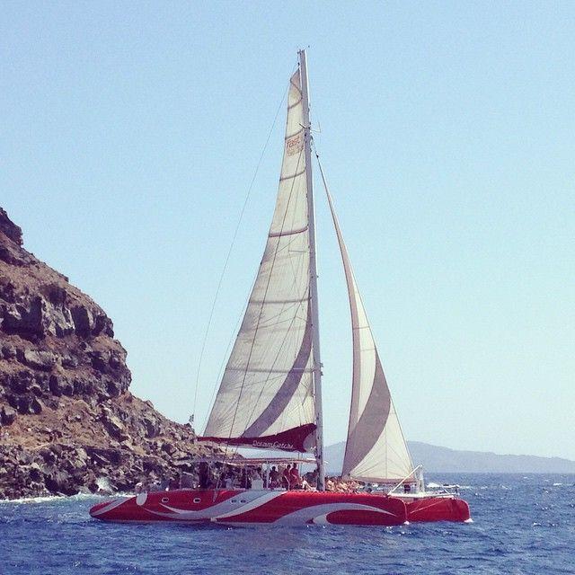 Santorinisailing Santorini Dreamcatcher Oia Fira Fun Sail Inspiration Dream Catcher Boat Santorini