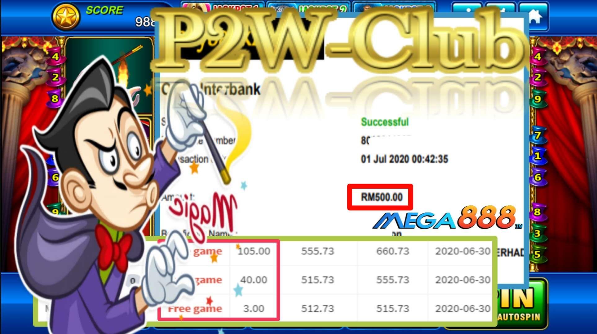 Mega888 Magic Free Games Kredit Jackpot Online Casino Malaysia| P2W-Club.com