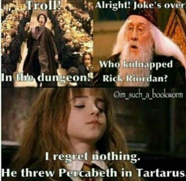 Demigods Go To Hogwarts Being Rewritten On Profile Dive Tuck Roll Run Percy Jackson Books Percy Jackson Funny Percy Jackson Memes