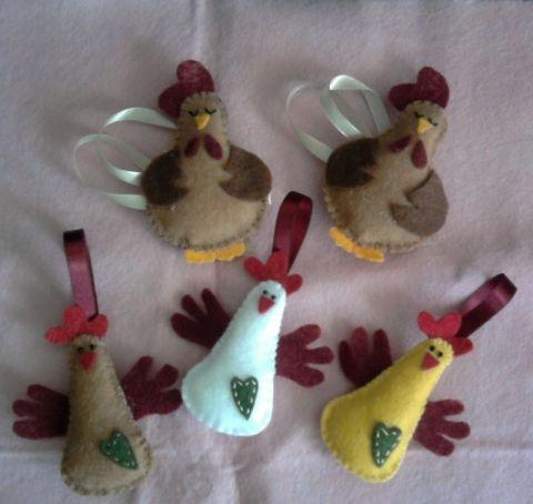 Easter felted chicks, felt