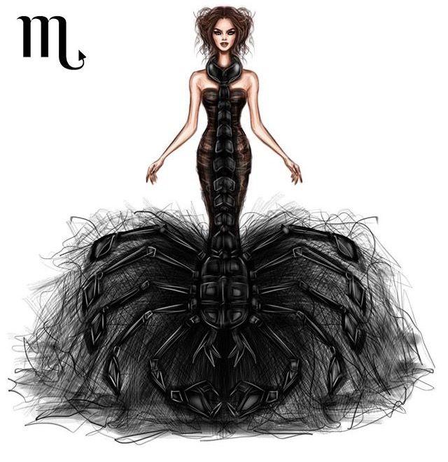 Scorpio Shamekh Bluwi Pinterest Scorpio Zodiac And Fashion Illustrations