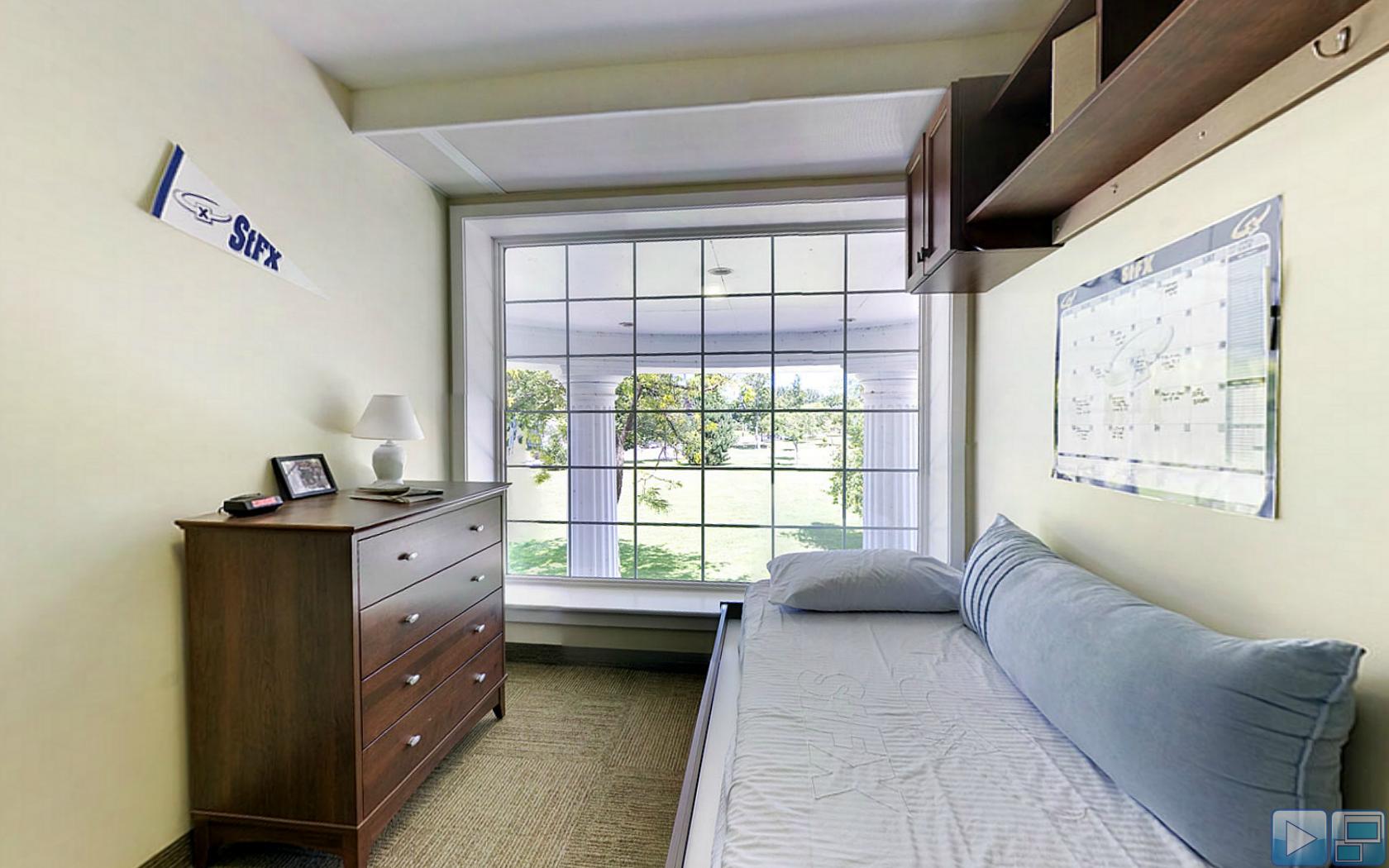 Dresser Bed And Overhead Storage In Bishops Window Is