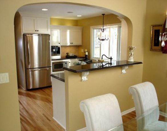 Resultado de imagen para barras desayunadoras para cocinas Cocinas pequenas modernas con barra