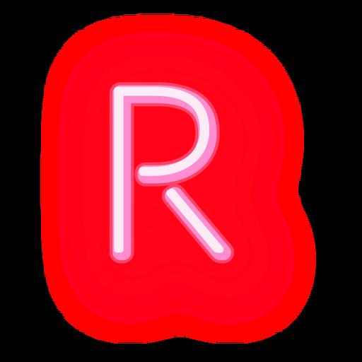 Letterhead Red Neon Letter R Png Alphabet Letters Images Neon Png Lettering