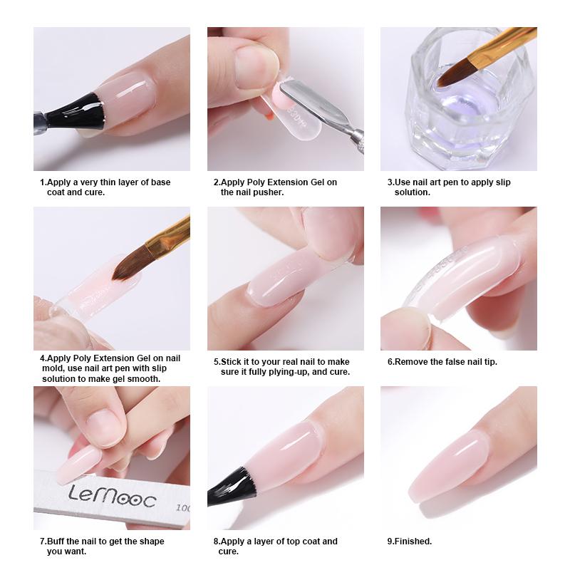 Top 5 Nail Art Tips For Beginners Expert Advice: 1 Bottle 20ml Nail Liquid UV Gel Slip Poly Builder