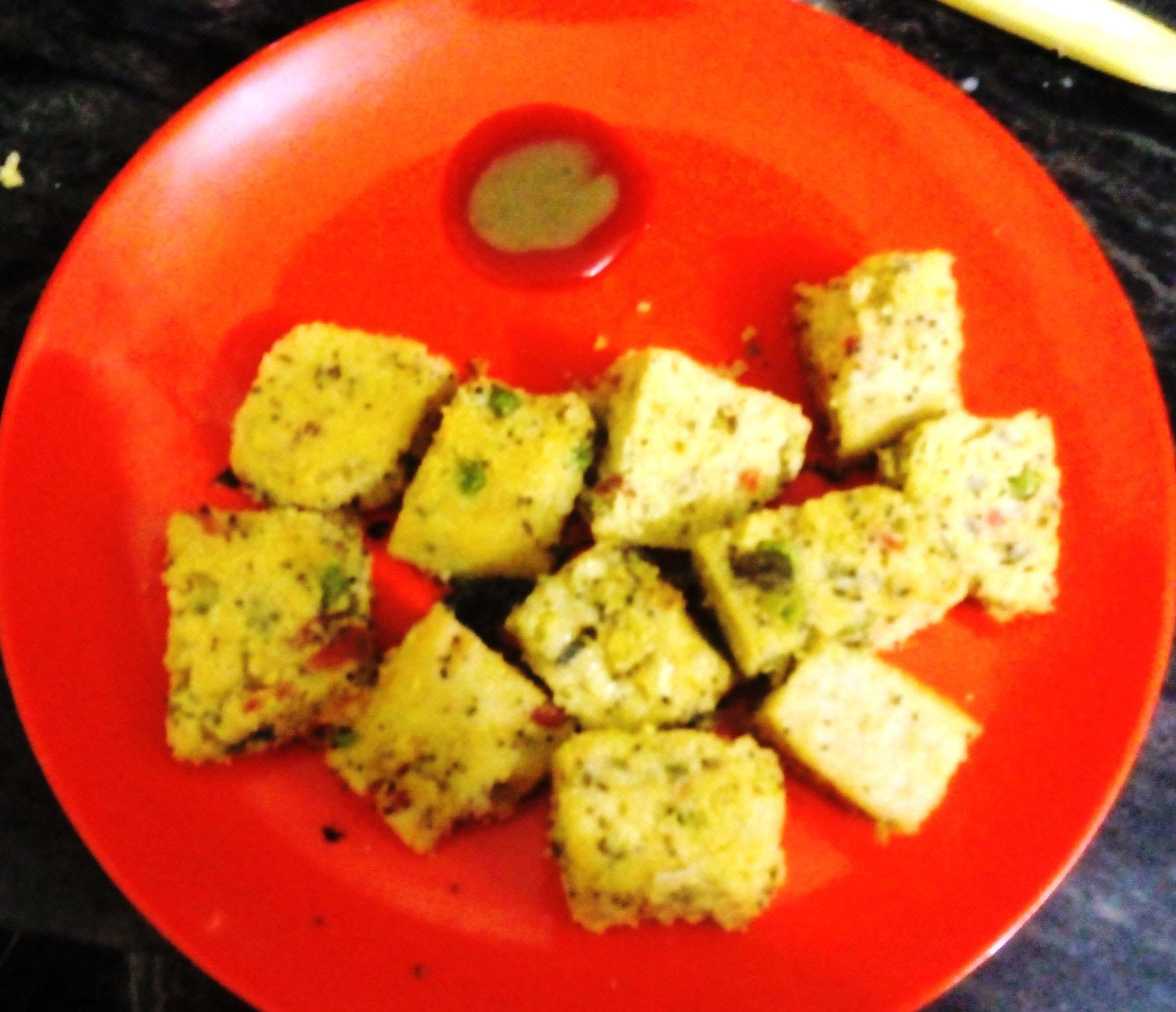 Besan Dhokla at home in Pressure Cooker - Home Made Dhokla