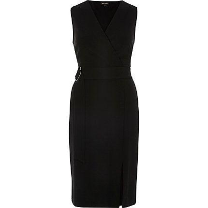 Black wrap sleeveless dress £40.00