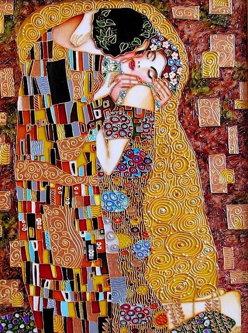 Kiss Stained Glass Painting Inspired By Klimt By St Petersburg