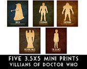 5x7 Doctor Who Prints joe