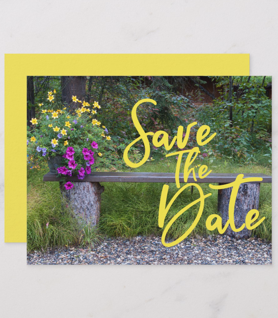 Save The Date Family Reunion Rustic Rural Floral