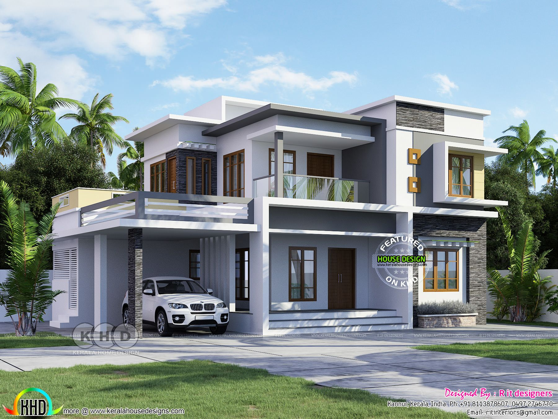 67 000 Cost Estimated Flat Roof House Modern Exterior House Designs Flat Roof House House Front Design