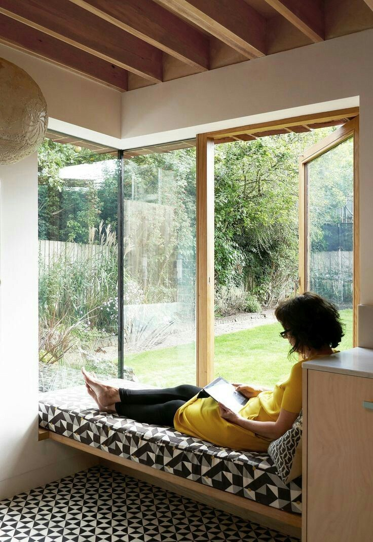 Window seat with bed  pin by lobe yang on window seat  pinterest  blanket pillows and books