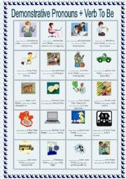 English teaching worksheets: Demonstrative determiners   class in ...