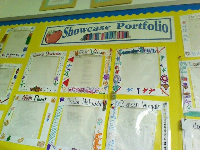 Great idea to easily showcase work, they just slide it down from the top.
