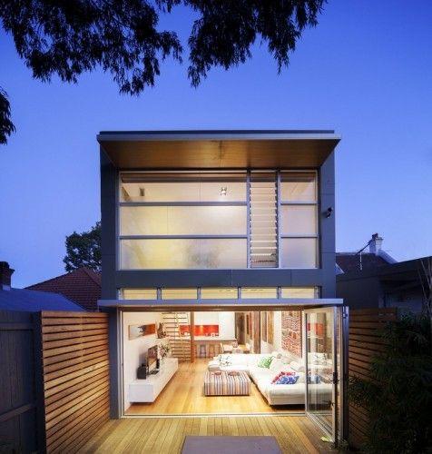 Open Plan Rear Living Plan Two Storey Modern Extension Small Modern Home Modern House Design House Design