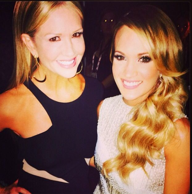 Nancy O'dell and Carrie Underwood