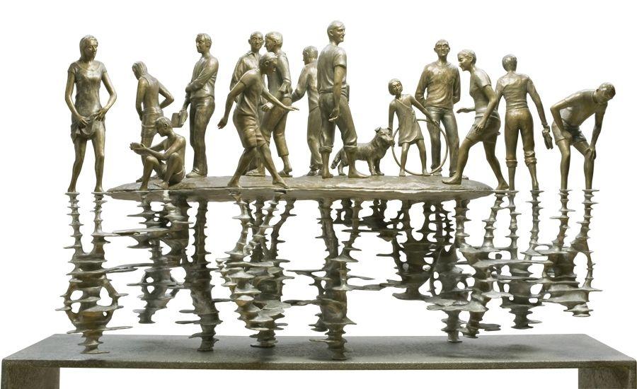 white et white sculpteurs