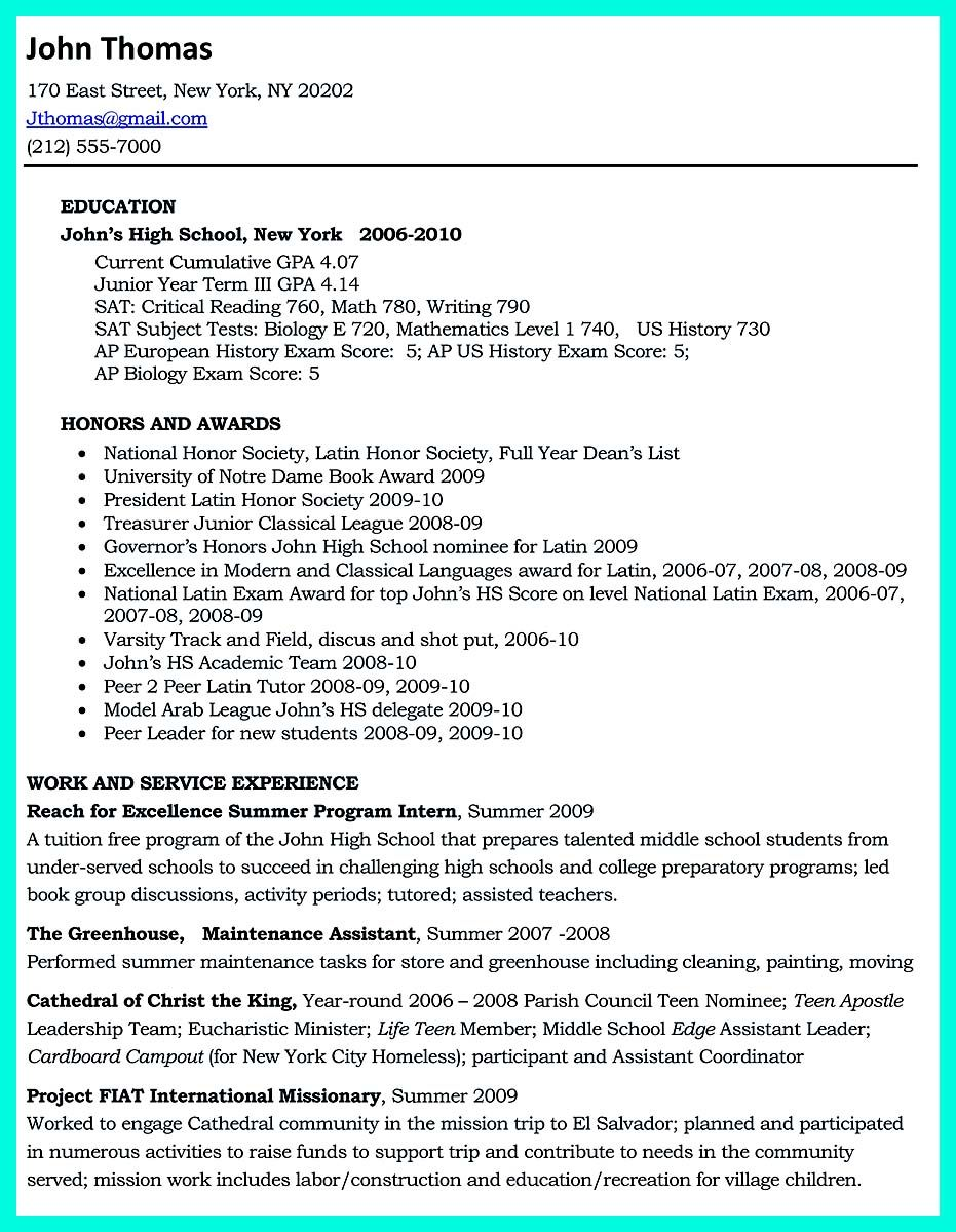 Nice The Perfect College Resume Template To Get A Job Check More At