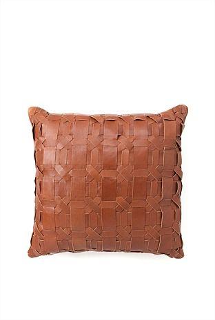 CR leather cushion (with inka)