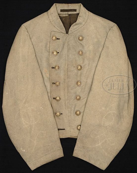 civil war confederate reenactor officers double breasted shell jacket 50
