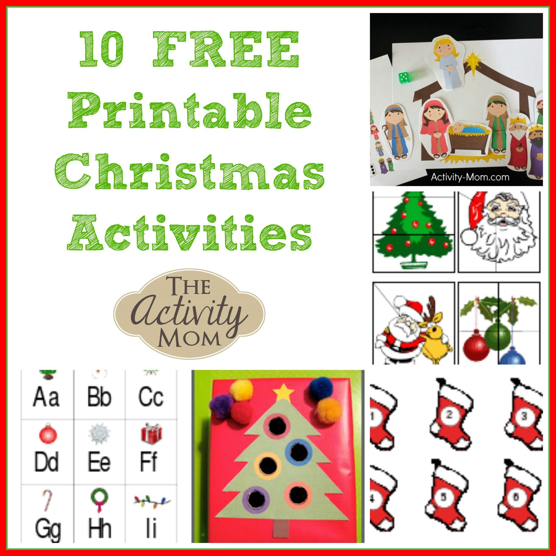 10 Free Printable Christmas Activities for Kids | Learning ...