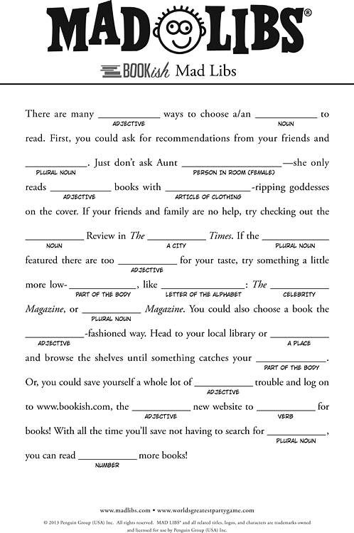 Handy image throughout printable mad libs sheets for adults