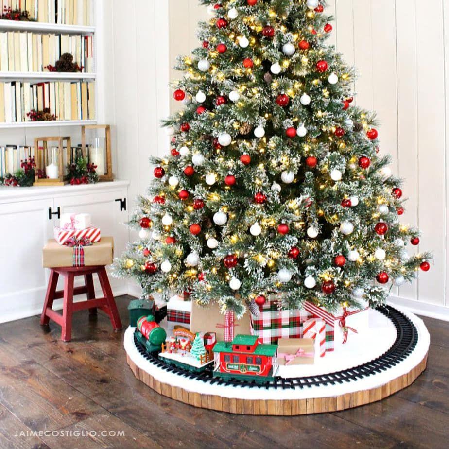 DIY Christmas Tree Skirt for Train - Jaime Costigl