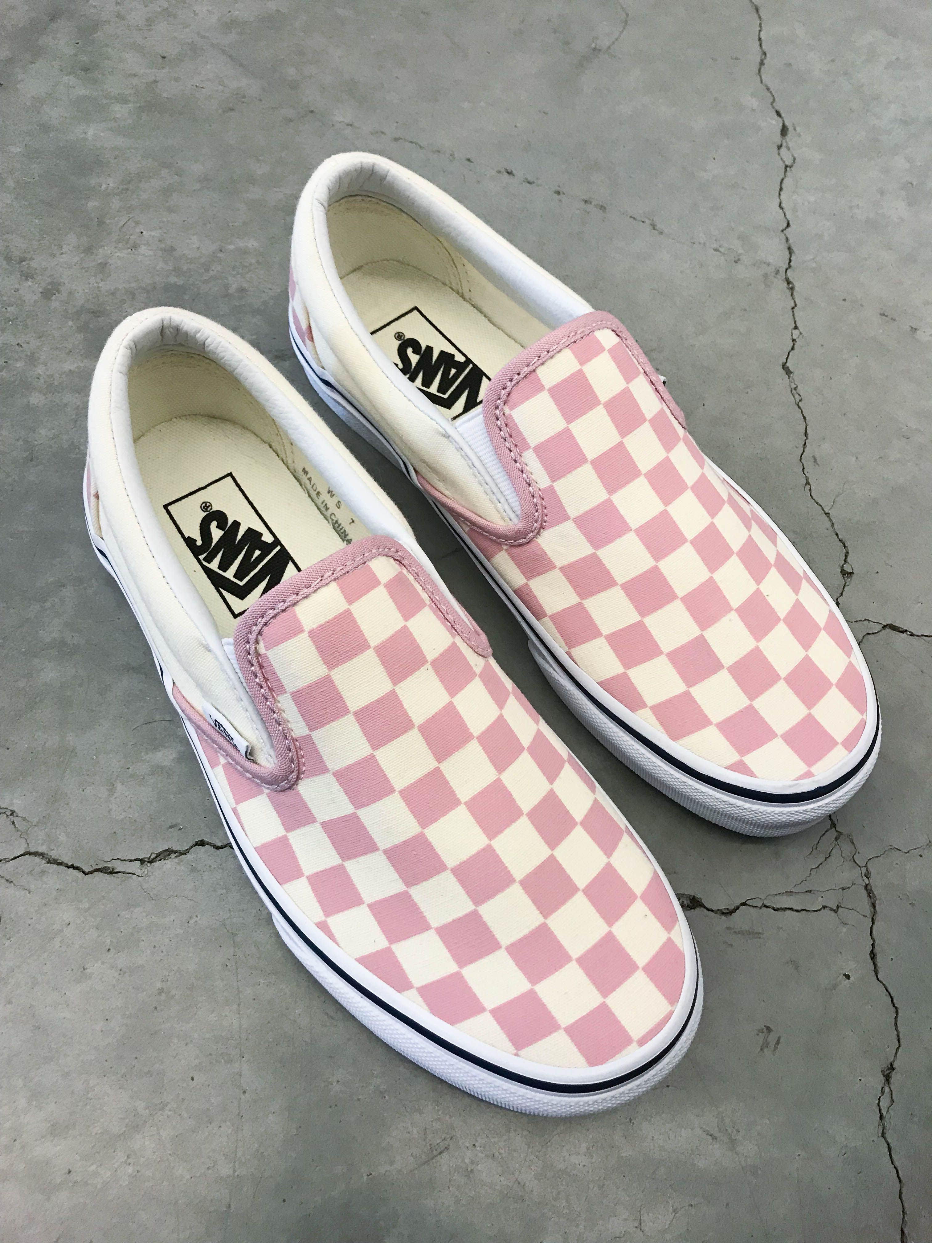 White Checkered Skate Shoes