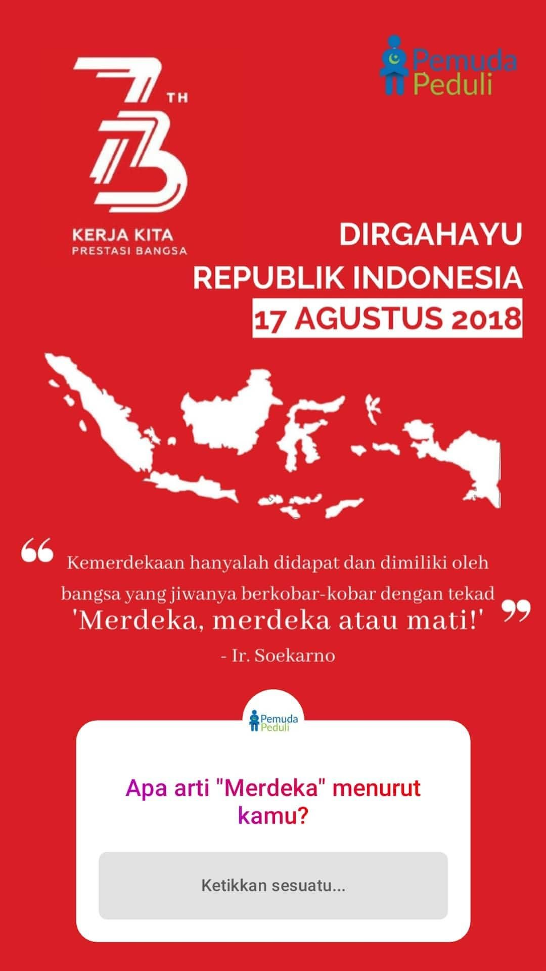 Design Interactive Content For Instastories Pemuda Peduli Indonesia S Independence Day Edition Poster Poster Desain Grafis Indonesia