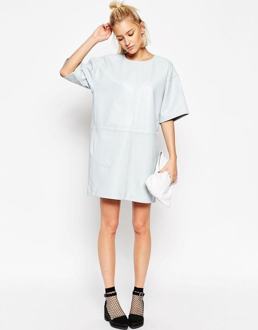 Image 4 of ASOS WHITE Leather Panel Dress | Stuff I Want ...