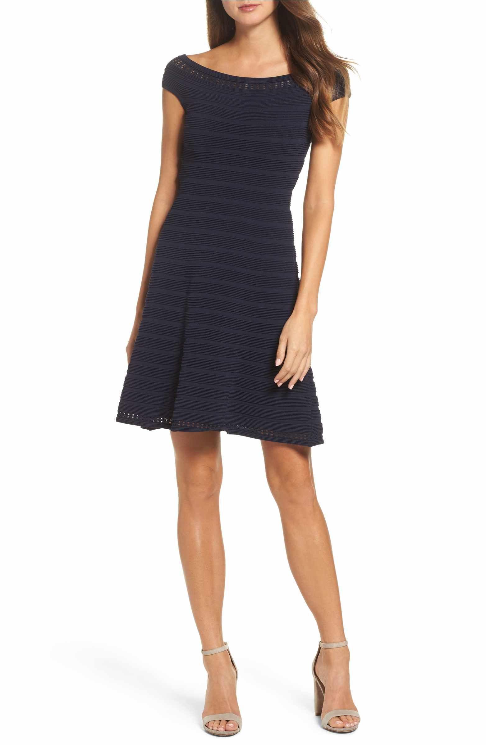 bd716df8706bd Main Image - Eliza J Off the Shoulder Fit   Flare Dress