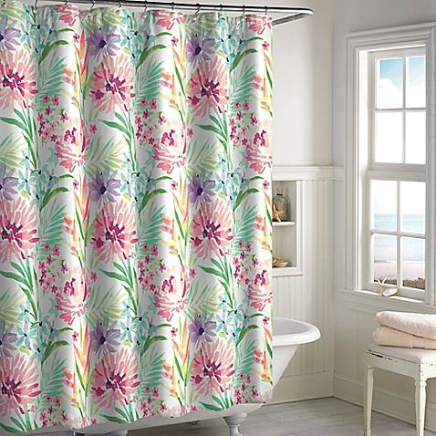 Rejuvenate your bathroom decor with the Tropical Paradise Shower Curtain. With a 100% cotton construction and a nature-inspired design, this beautiful shower curtain is an easy way to refresh your bath and shower setting.
