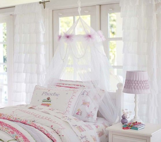 Classic Tulle Canopy Tulle Canopy Pottery Barn Kids Bedrooms Girl Room