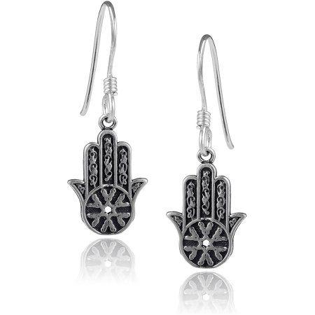 Brinley Co. Women's Sterling Silver Hasma Dangle Earrings