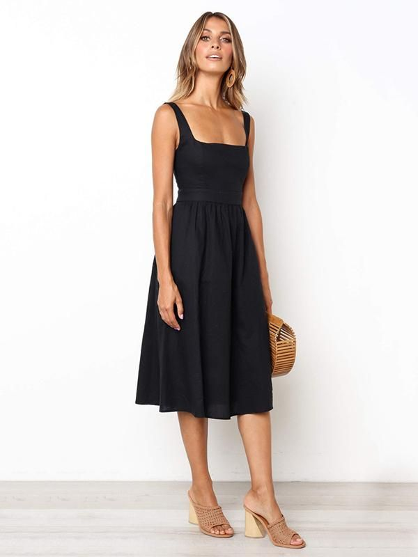 Simple Halter Slip Sexy Midi dress -   17 dress Simple midi ideas