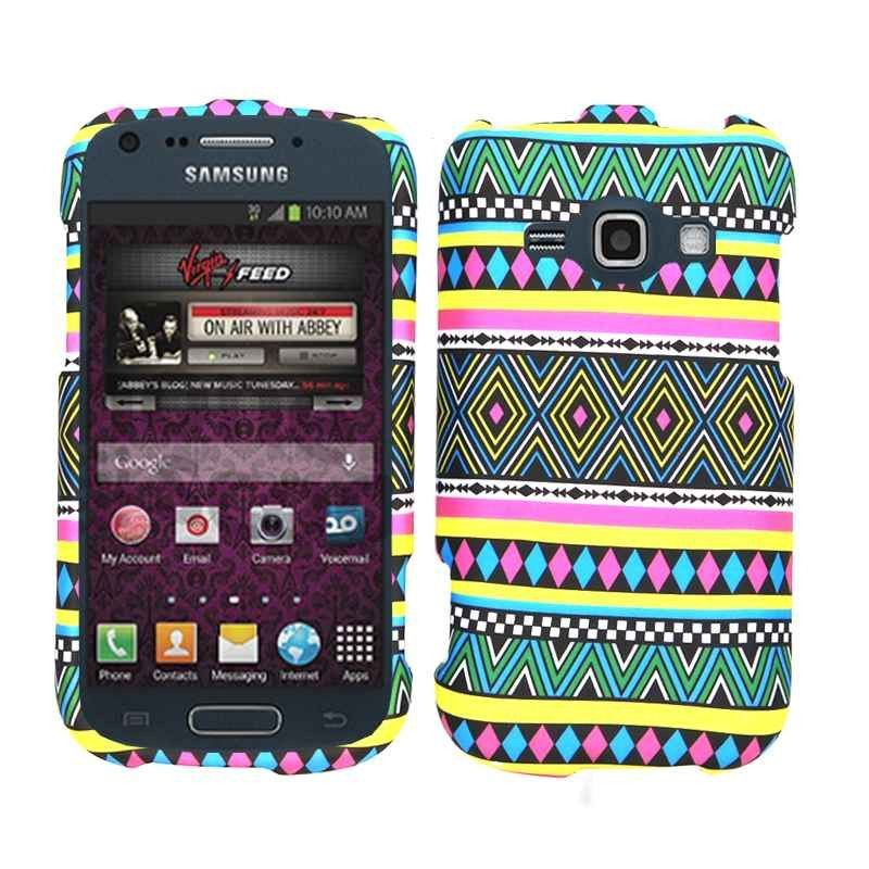 Unlimited Cellular Smooth Finish Cover Case for SAMM840 Galaxy Ring/Prevail2 (Tribal Pattern)