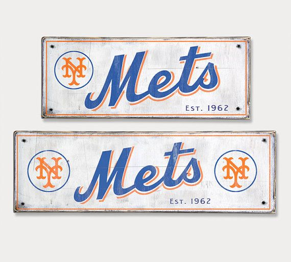 New York Mets Distressed Wood Sign Rustic Home Decor Rhpinterest: Mets Home Decor At Home Improvement Advice