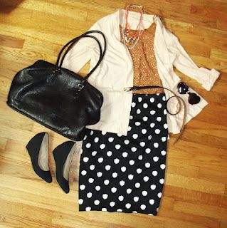 Outfit of the Day: Polka Dots and Lace