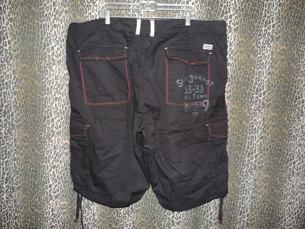 Sean John Clothing Mens Khakis Chinos ClassicFit Black Cargo Shorts Size 44B NWT #SeanJohn #CargoKhakisChinos
