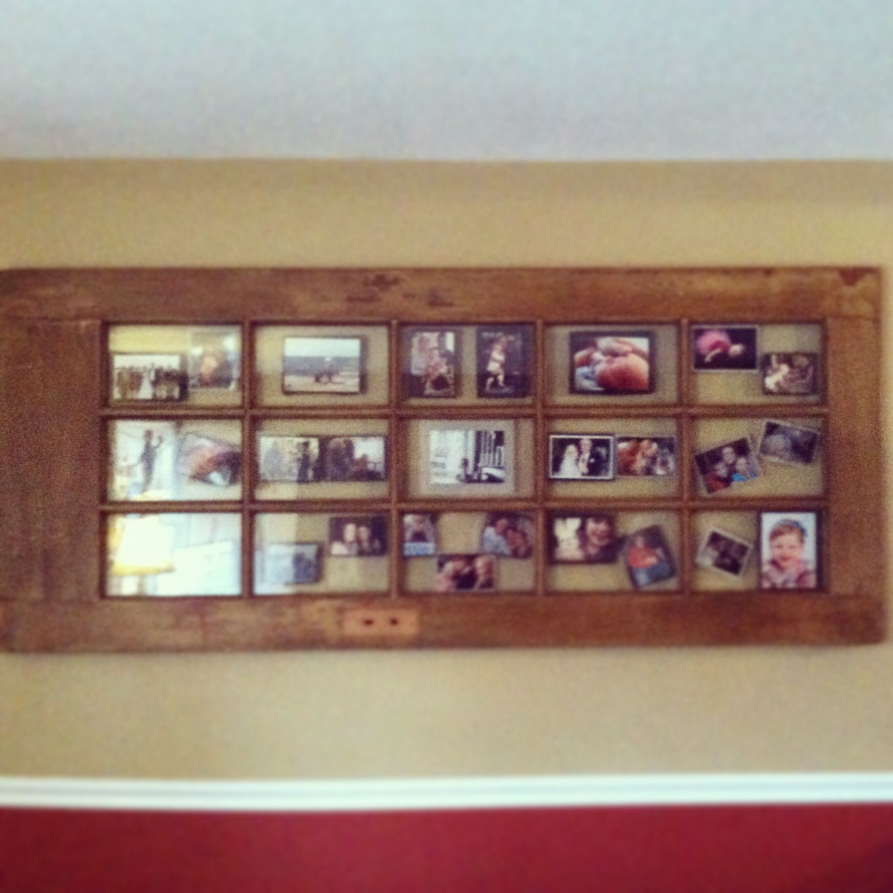 Old door used as a picture frame and wall art | Food For Thought ...