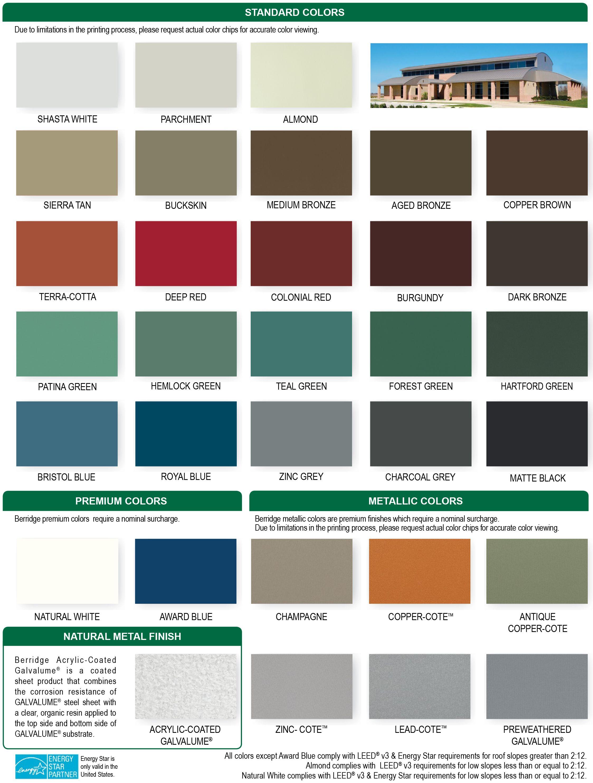 Best Berridge Colors Metal Roof Colors Roof Colors 400 x 300