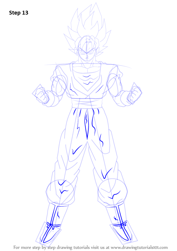 Learn How To Draw Goku Super Saiyan From Dragon Ball Z Dragon Ball Z Step By Step Drawing Tutorials Goku Drawing Goku Super Dragon Ball