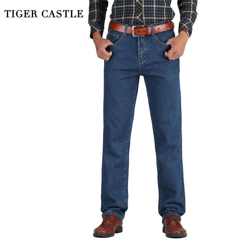 Straight Classic Jeans Male Denim Pants KW #Christmas