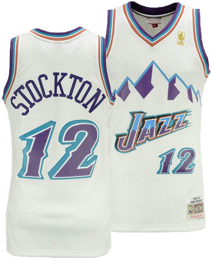info for fadb1 755f0 Mitchell & Ness Big Boys John Stockton Utah Jazz Hardwood ...