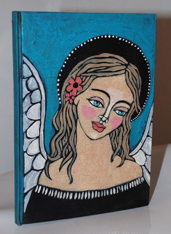 OOAK Custom Hand Painted Folk Art Angel by HandmadebyJenny on Etsy