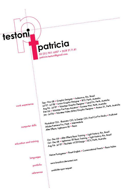 A Collection of Clean Resume Designs For Inspiration Pinterest
