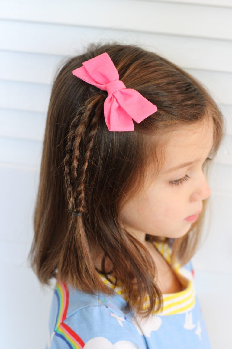 Very Easy Hair Styles For Girls From Toddlers To School Age Little Girl Haircuts Girls Hairstyles Easy Easy Toddler Hairstyles