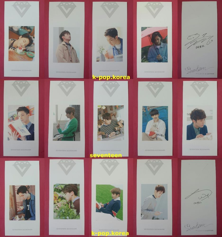 Details about LOT of 13 SEVENTEEN Official PHOTOCARD ...