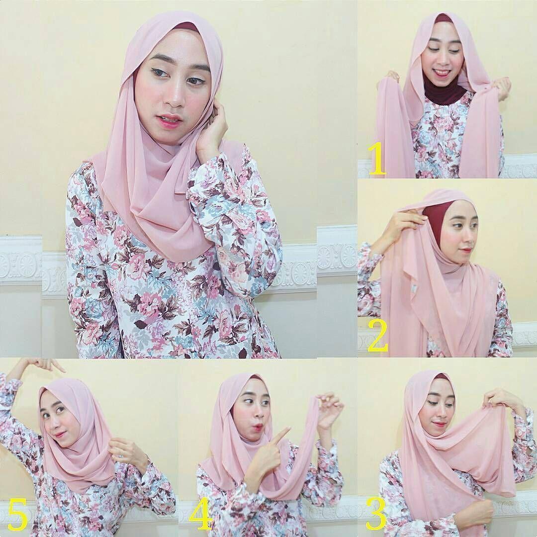 Tutorial Hijab Pashmina Satin Untuk Pesta Blog Lif Co Id