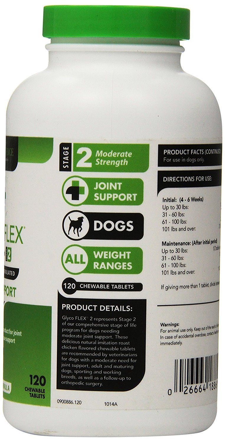 Glycoflex stage 2 chewable 120 tablets for hip and joint